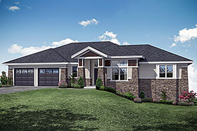 Craftsman , Traditional House Plan 41308 with 3 Beds, 3 Baths, 2 Car Garage Elevation