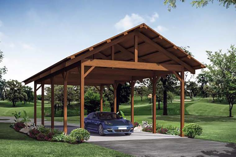 Country 2 Car Garage Plan 41309 Elevation