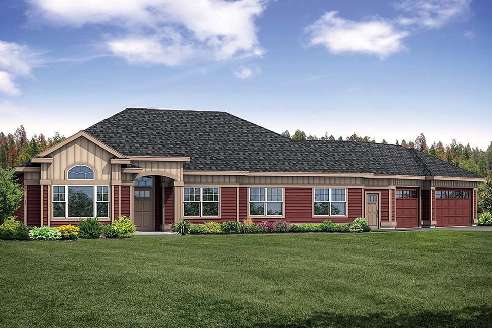 House Plan 41310 | European Traditional Style Plan with 2663 Sq Ft, 3 Bedrooms, 3 Bathrooms, 3 Car Garage Elevation