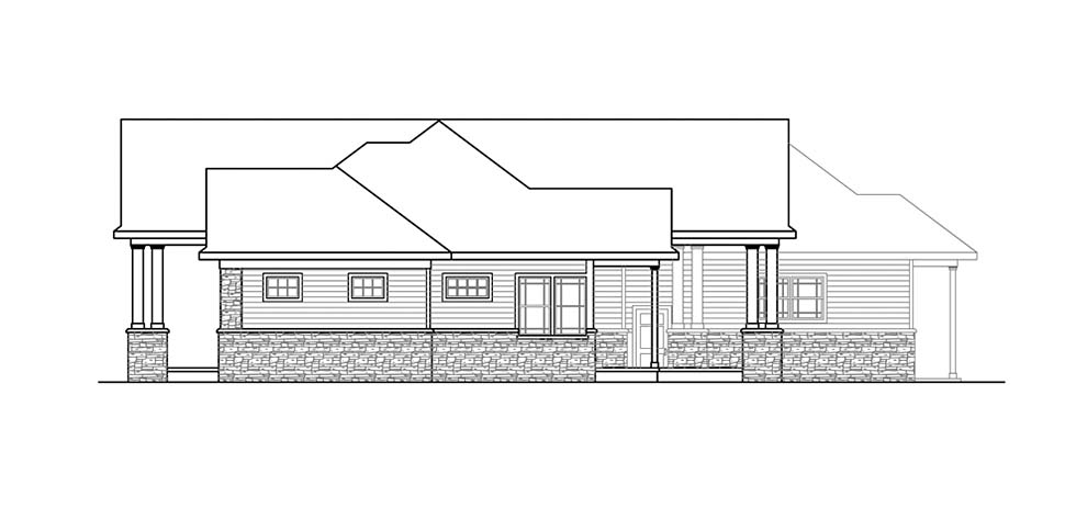 Ranch, Traditional House Plan 41312 with 3 Beds, 4 Baths, 3 Car Garage Picture 1