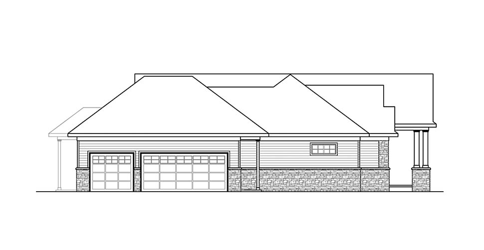 Ranch, Traditional House Plan 41312 with 3 Beds, 4 Baths, 3 Car Garage Picture 2