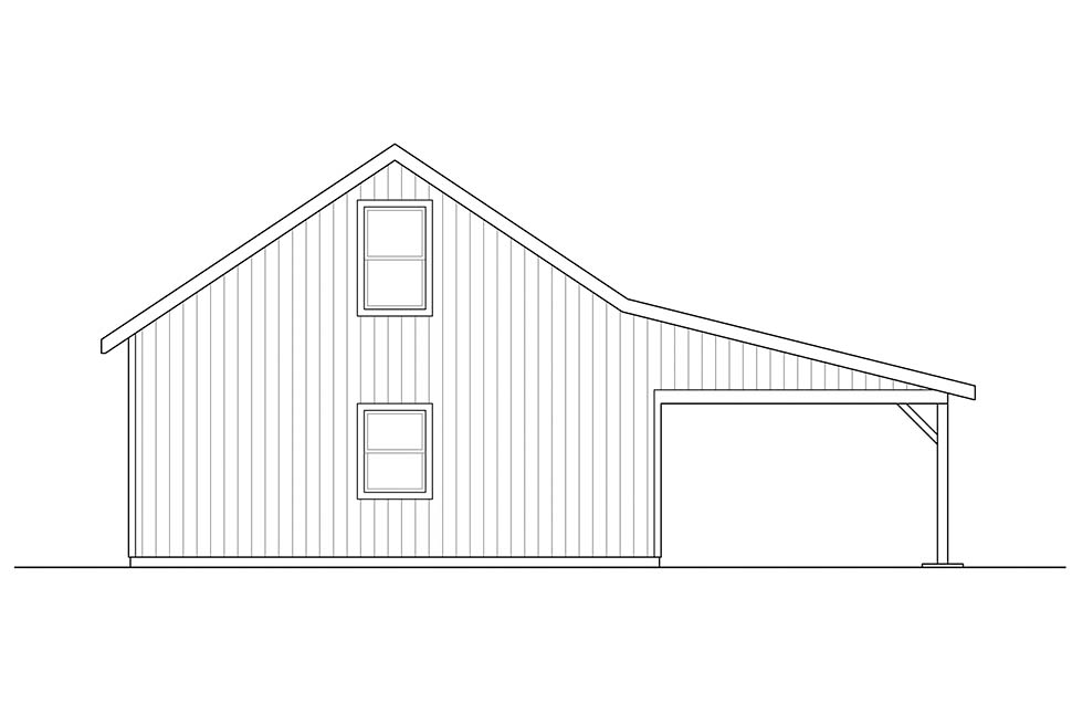 Ranch Rear Elevation of Plan 41314