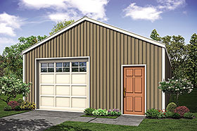 Garage Plan 41316 | Traditional Style Plan, 1 Bathrooms, 1 Car Garage Elevation