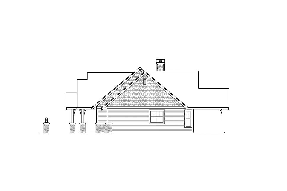Craftsman House Plan 41321 with 3 Beds, 3 Baths, 2 Car Garage Picture 1