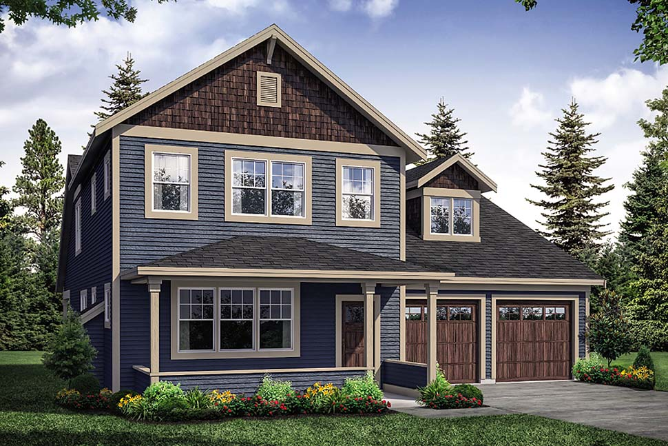 Modern Farmhouse, Traditional House Plan 41325 with 3 Beds , 3 Baths , 2 Car Garage Elevation