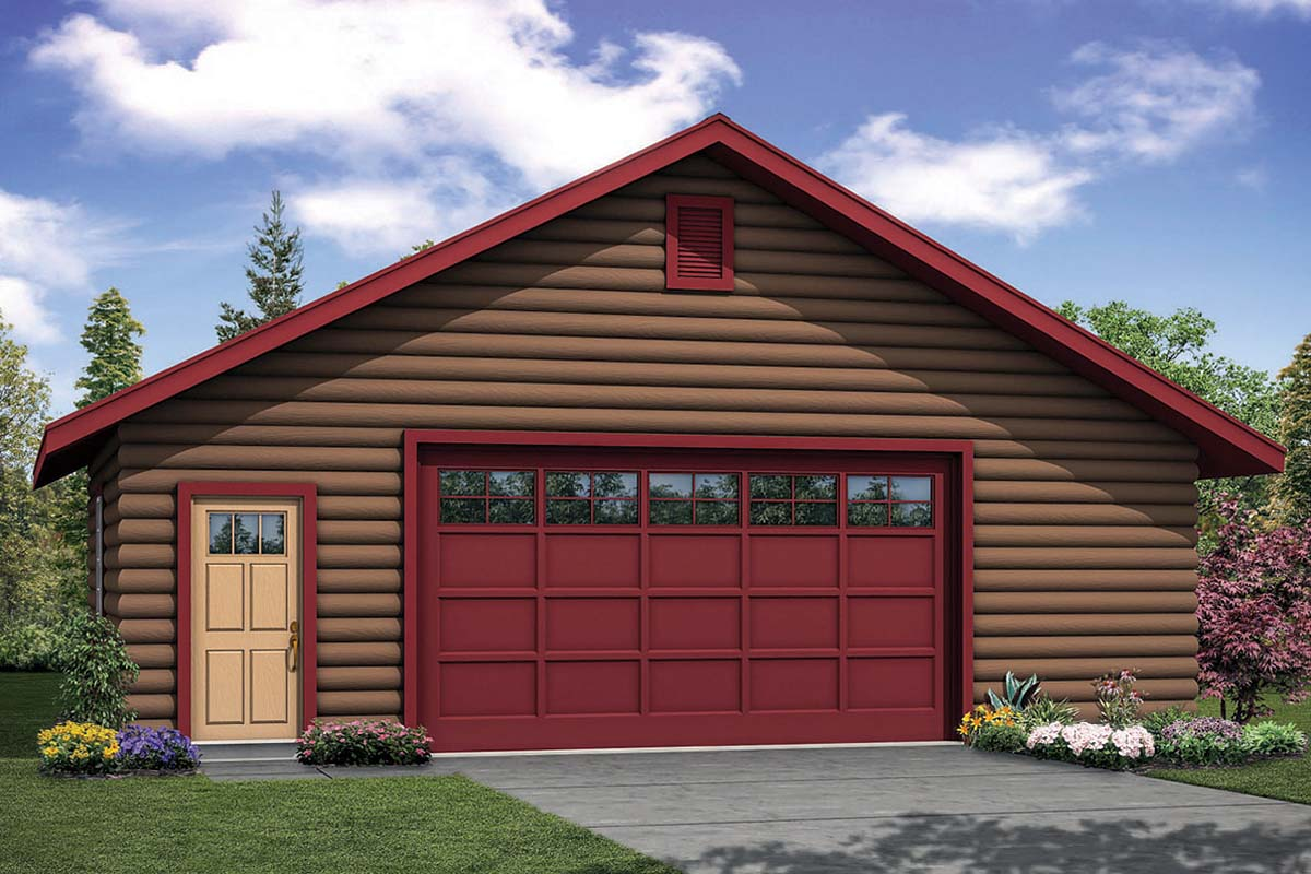Cottage 2 Car Garage Plan 41327 Elevation