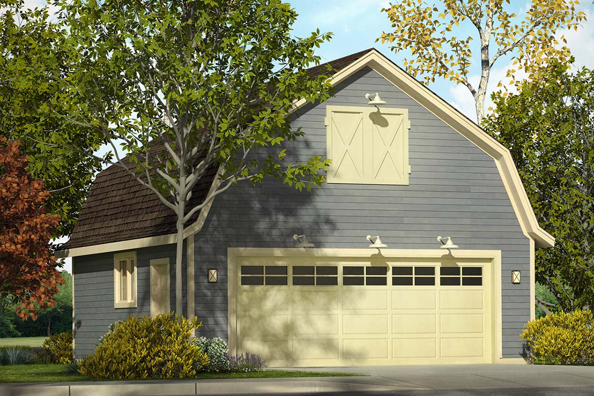 Country 2 Car Garage Plan 41328 Elevation