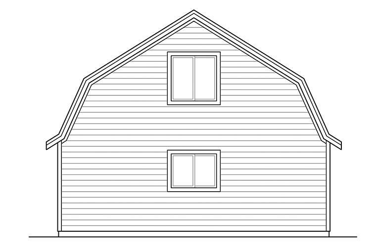 Country 2 Car Garage Plan 41328 Rear Elevation