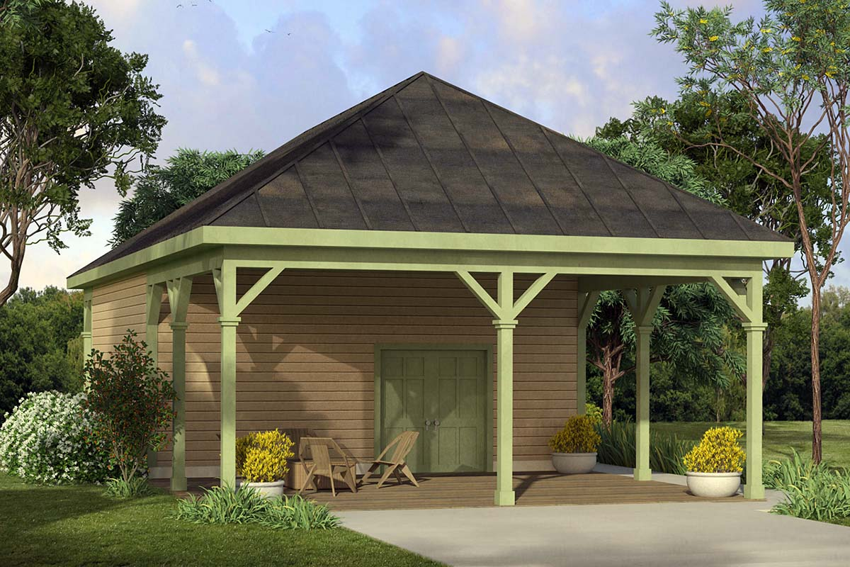 Country 2 Car Garage Plan 41329 Elevation