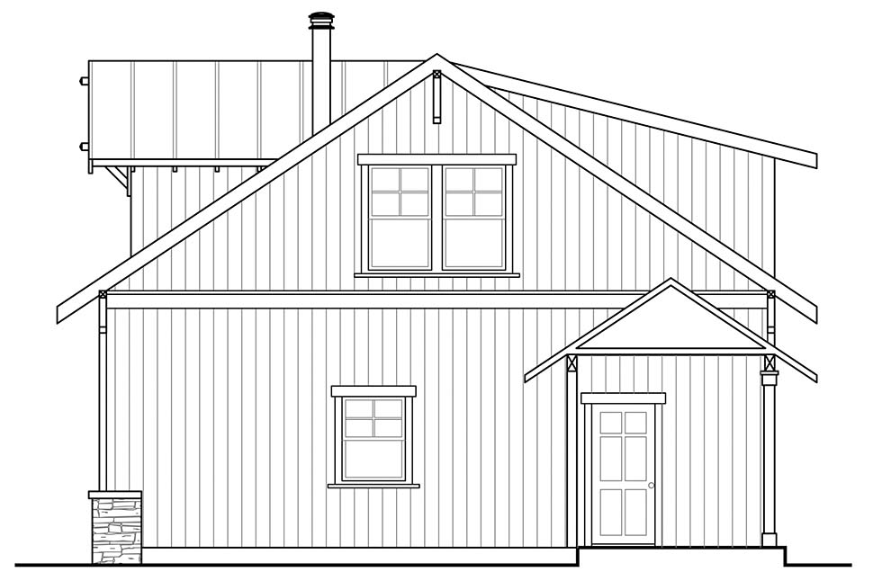 Country 2 Car Garage Plan 41330 Picture 1