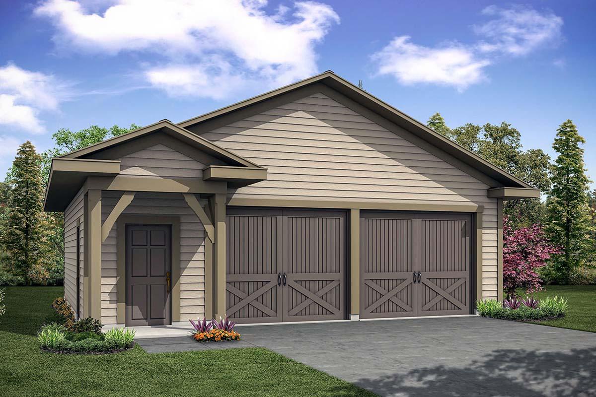 Cottage 2 Car Garage Plan 41331 Elevation