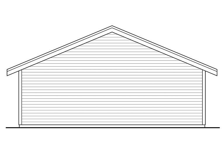 Cottage 2 Car Garage Plan 41331 Rear Elevation
