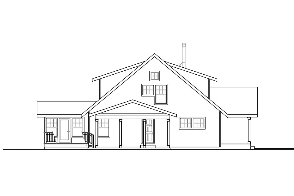 Cottage, Florida House Plan 41333 with 2 Beds, 3 Baths, 2 Car Garage Picture 2