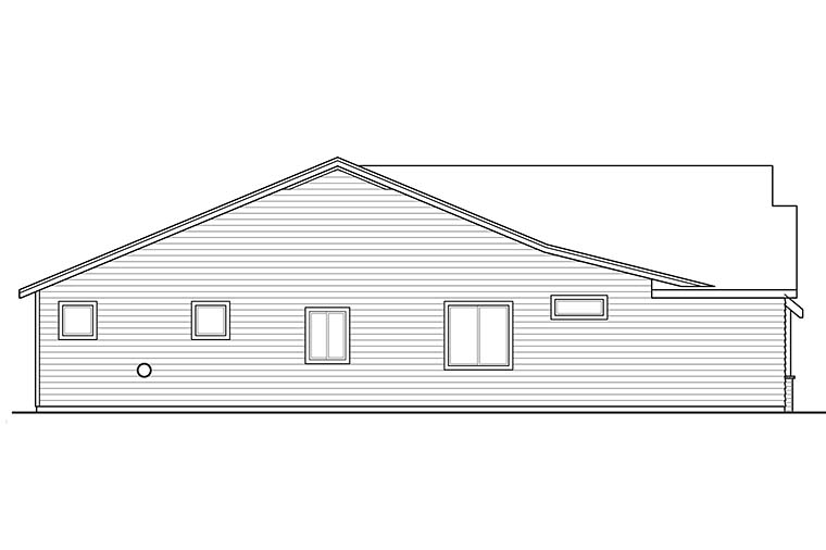 Bungalow, Craftsman House Plan 41346 with 3 Beds, 2 Baths, 2 Car Garage Picture 16
