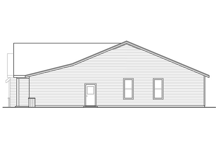 Bungalow, Craftsman House Plan 41346 with 3 Beds, 2 Baths, 2 Car Garage Picture 17