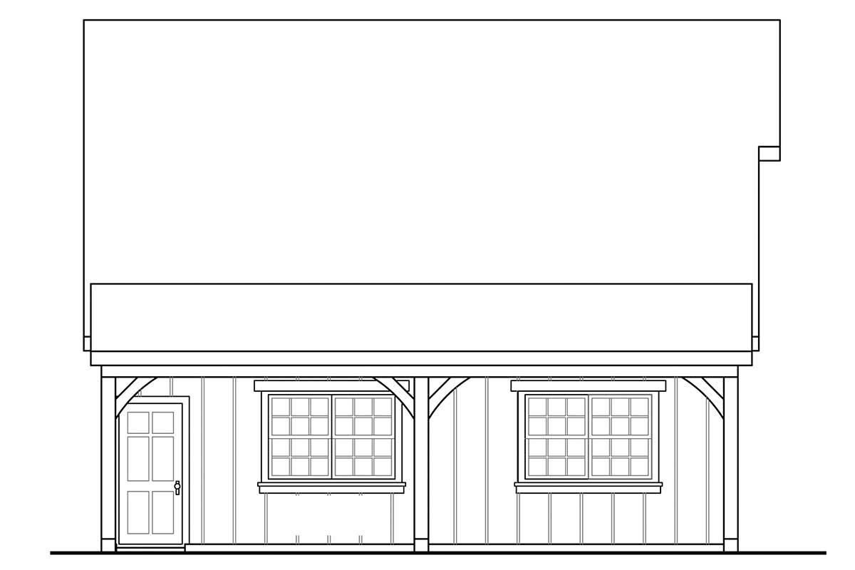 Country, Craftsman, Farmhouse 2 Car Garage Plan 41349 Picture 2