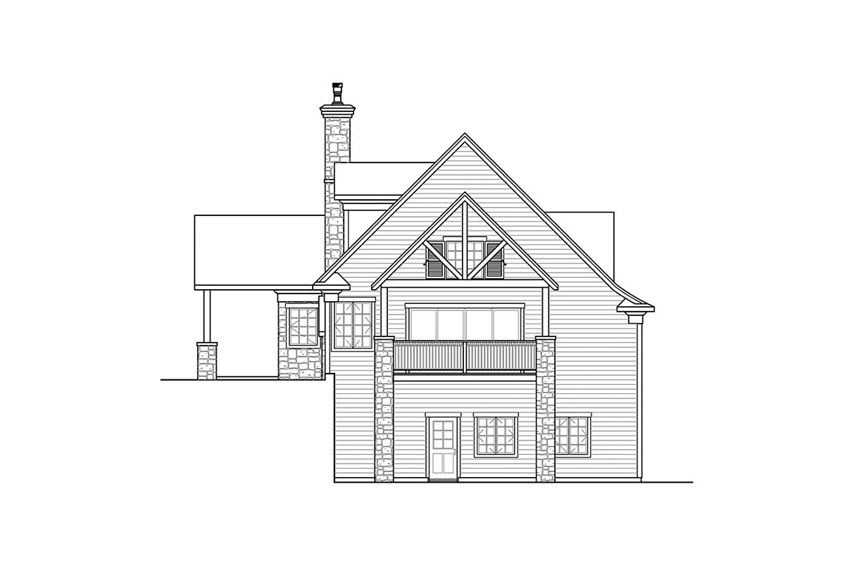 Bungalow, Craftsman, European House Plan 41353 with 1 Beds, 3 Baths, 2 Car Garage Picture 1