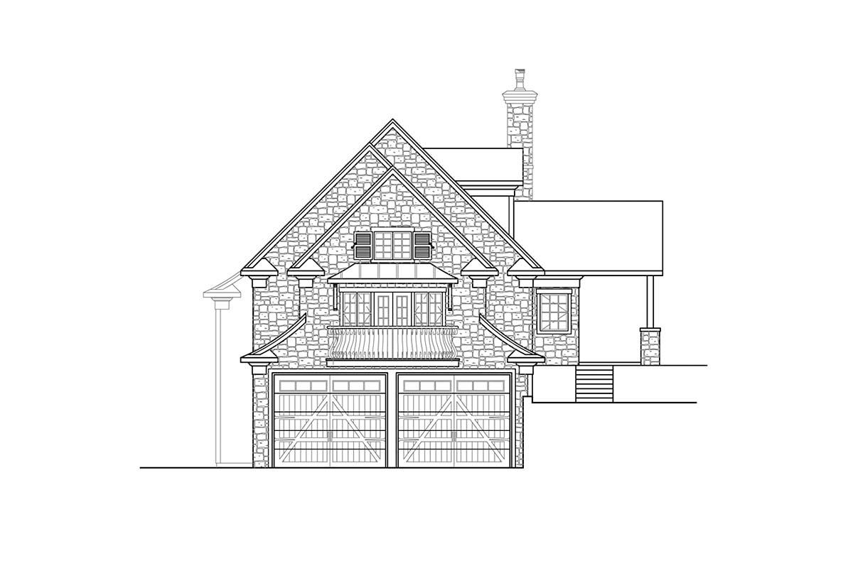 Bungalow, Craftsman, European House Plan 41353 with 1 Beds, 3 Baths, 2 Car Garage Picture 2