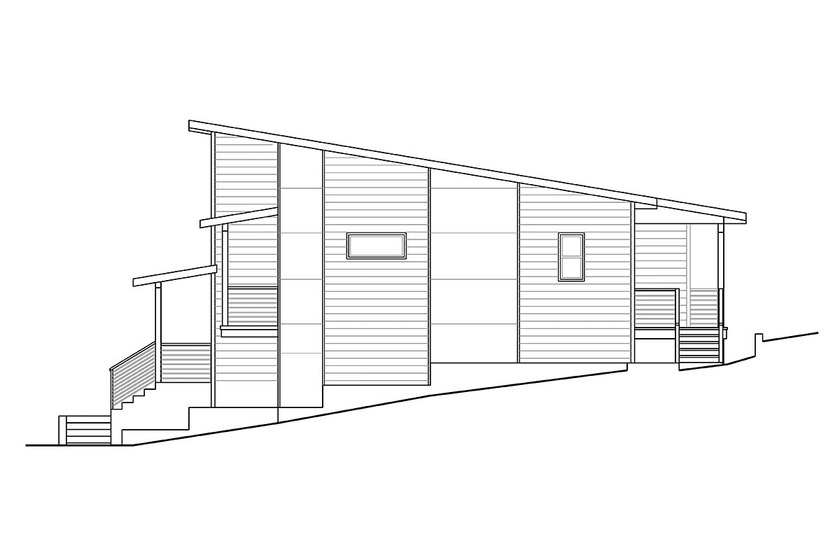 Contemporary, Modern, Narrow Lot House Plan 41359 with 3 Beds, 3 Baths, 2 Car Garage Picture 1