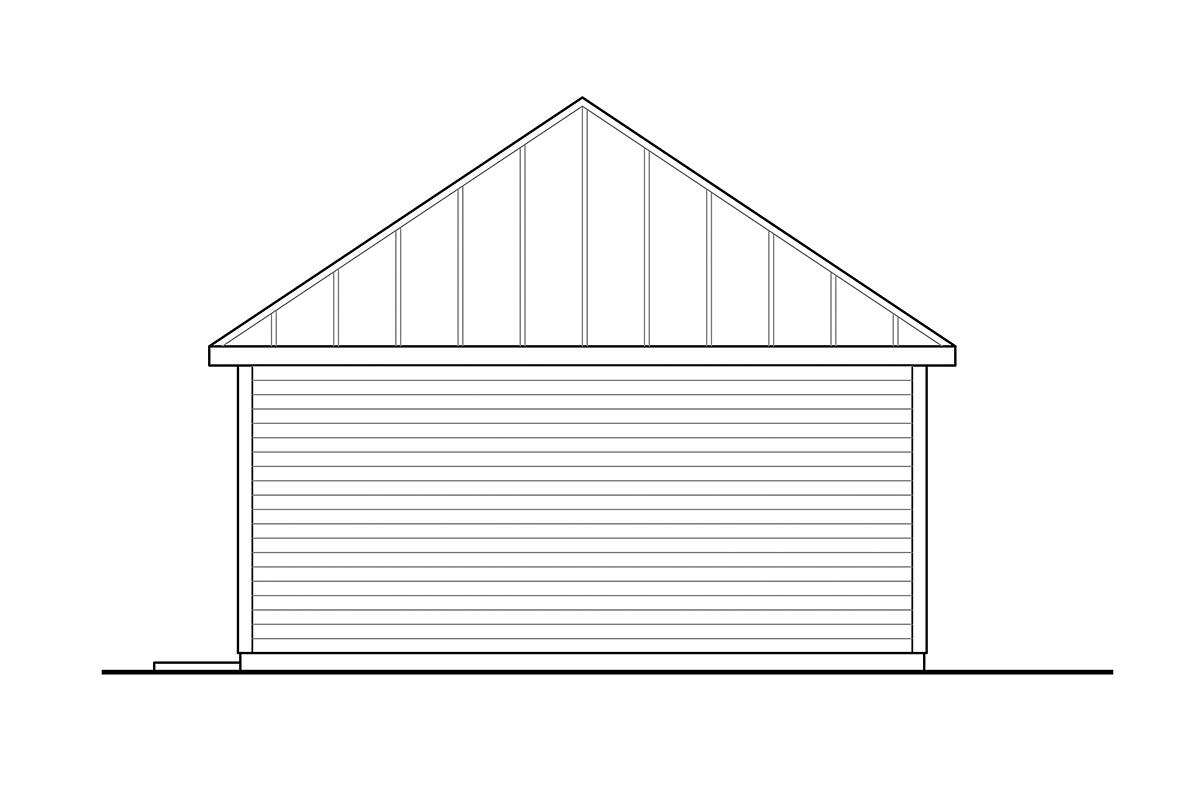 Cottage Workshop Plan 41361 Rear Elevation