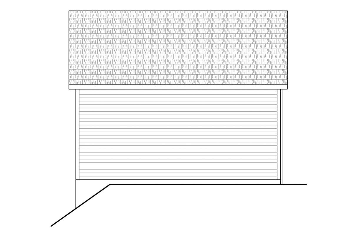 Traditional 2 Car Garage Plan 41362 Picture 2