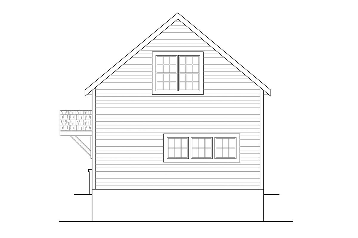 Traditional 2 Car Garage Plan 41362 Rear Elevation
