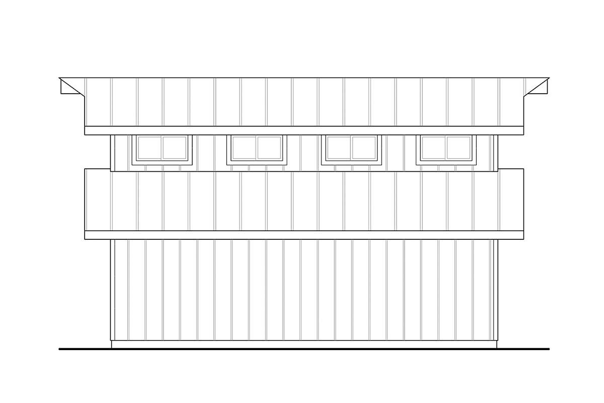 Traditional 2 Car Garage Plan 41364 Picture 1