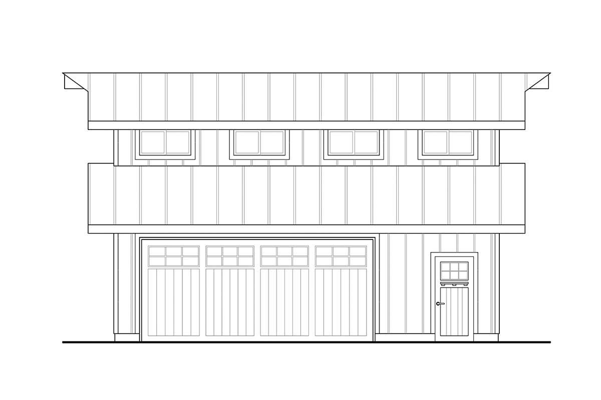 Traditional 2 Car Garage Plan 41364 Picture 2