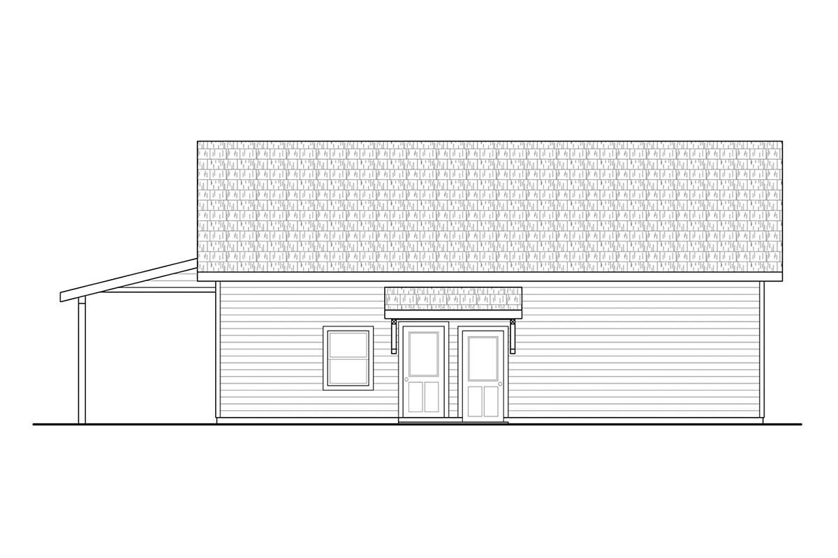 Country, Craftsman 2 Car Garage Plan 41367 Picture 2