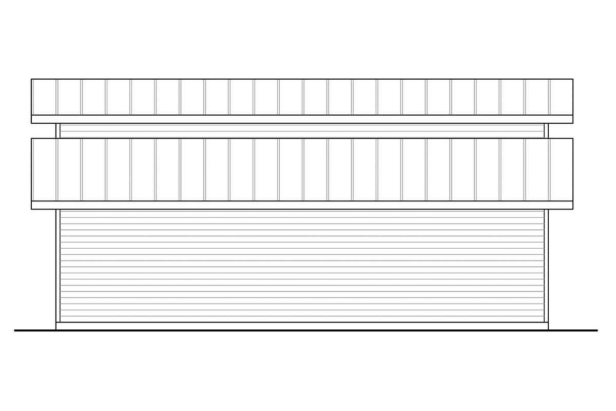 Traditional 3 Car Garage Plan 41370, RV Storage Picture 1