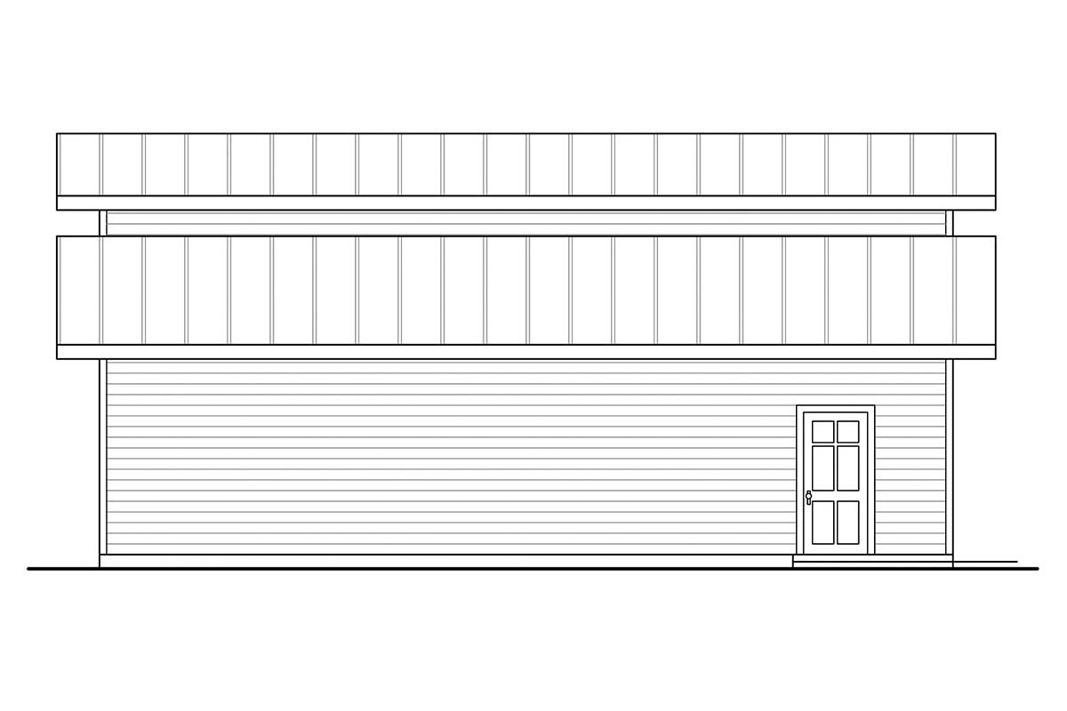 Traditional 3 Car Garage Plan 41370, RV Storage Picture 2
