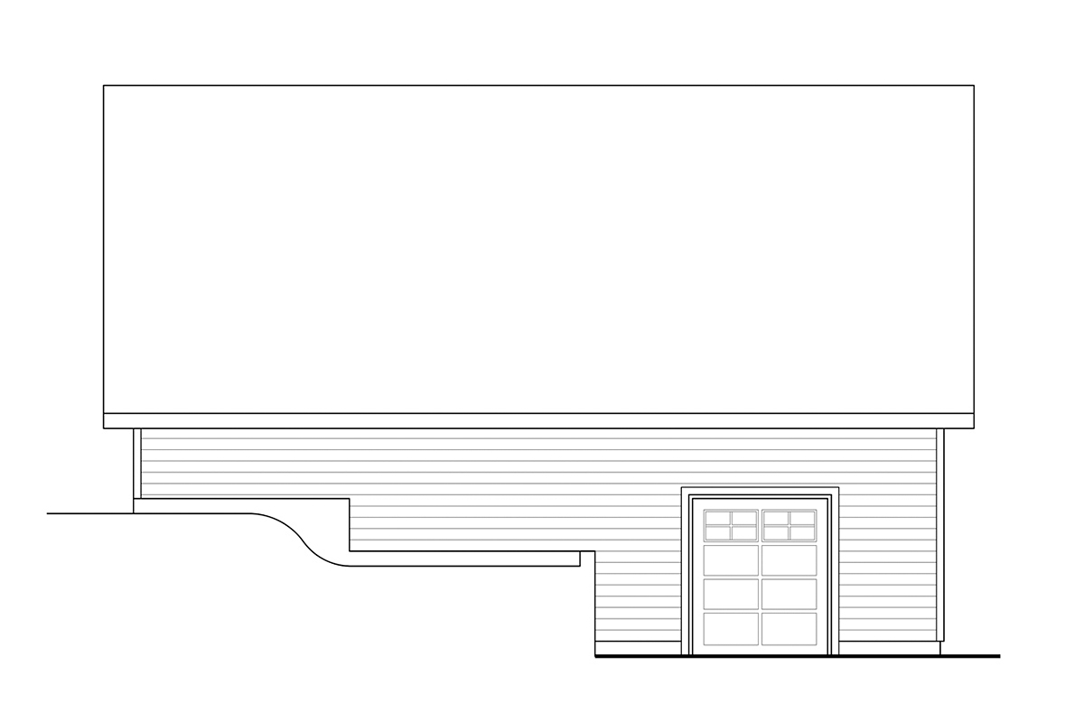 Country, Traditional 3 Car Garage Plan 41373 Rear Elevation
