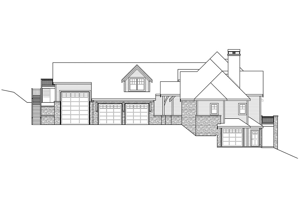 Craftsman, European House Plan 41380 with 4 Beds, 6 Baths, 3 Car Garage Picture 1