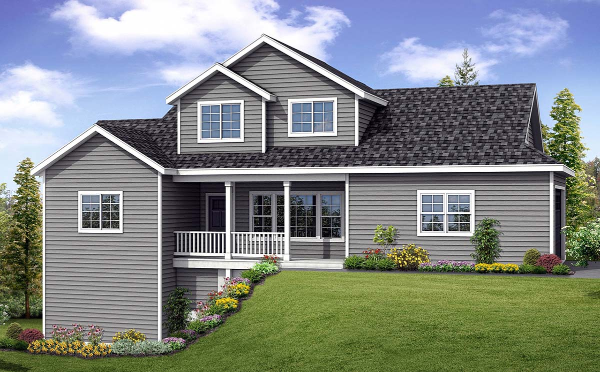 Contemporary, Country, Ranch House Plan 41390 with 3 Beds, 3 Baths, 2 Car Garage Elevation