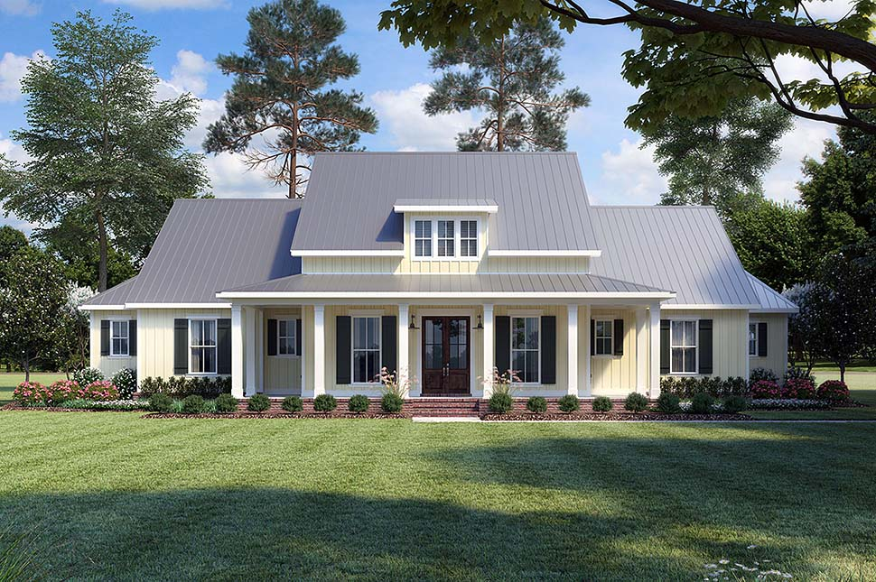 Country , Farmhouse , Traditional House Plan 41400 with 3 Beds, 3 Baths, 2 Car Garage Elevation