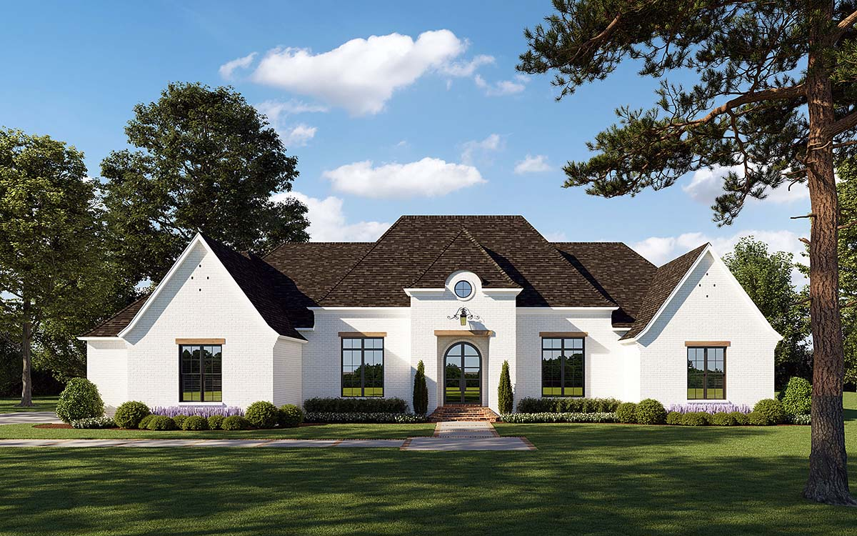 European, French Country, Traditional House Plan 41404 with 4 Beds , 4 Baths , 2 Car Garage Elevation