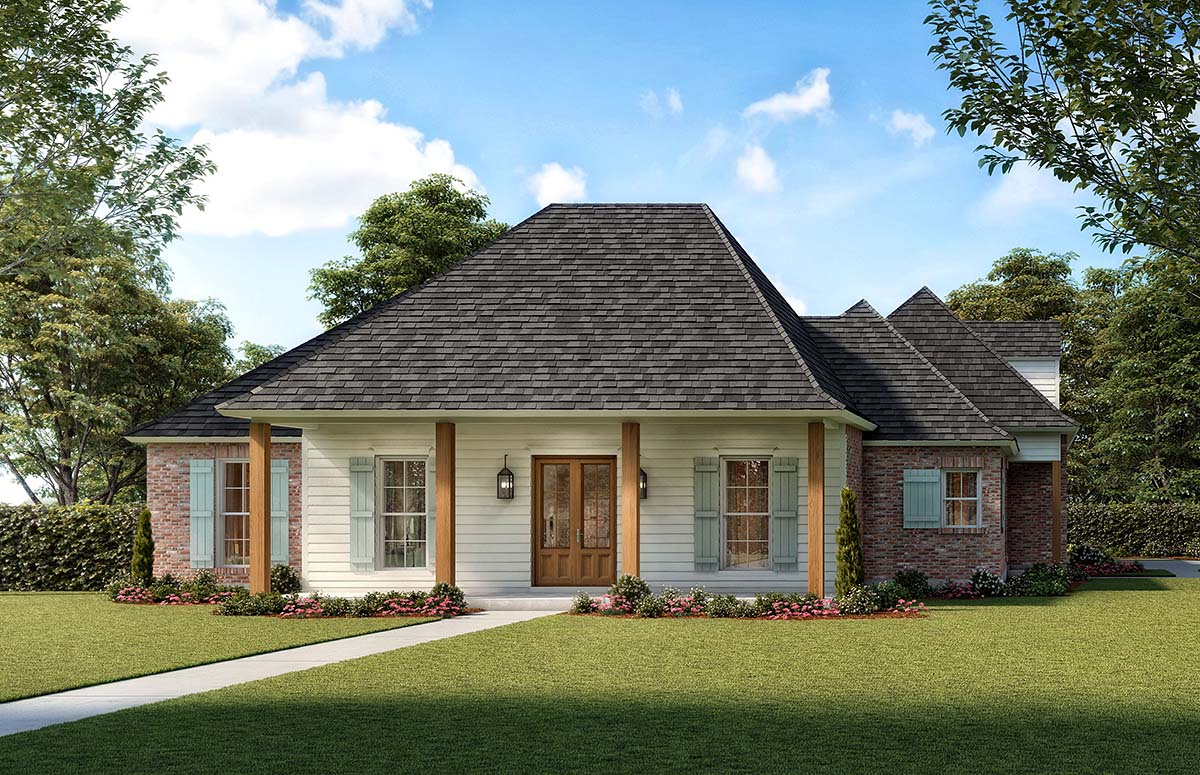 Colonial, Country, Traditional House Plan 41410 with 4 Beds, 3 Baths, 3 Car Garage Picture 1