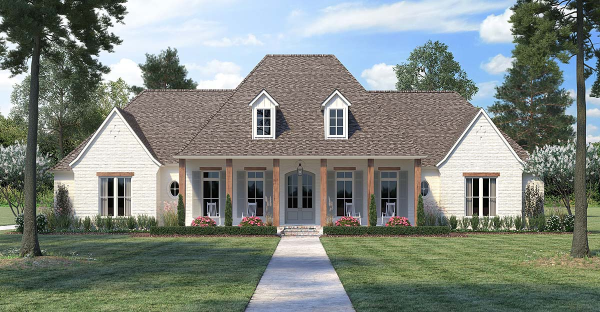 Country, European, French Country House Plan 41415 with 4 Beds, 4 Baths, 3 Car Garage Elevation
