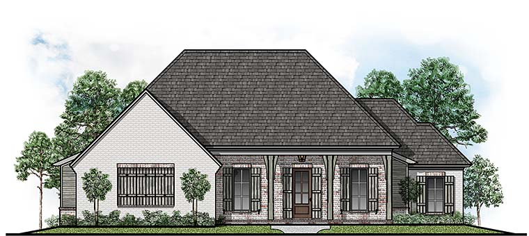 Country European House Plan 41500 Elevation