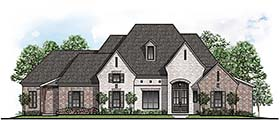 European , Southern House Plan 41501 with 4 Beds, 4 Baths, 3 Car Garage Elevation