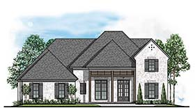 Colonial European Southern House Plan 41504 Elevation