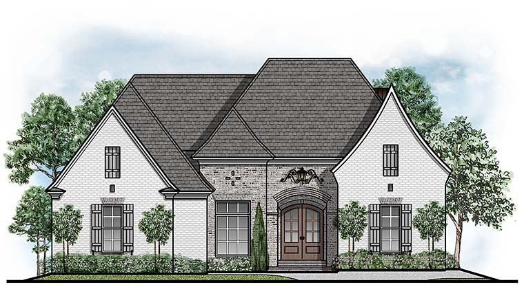 European Southern House Plan 41505 Elevation