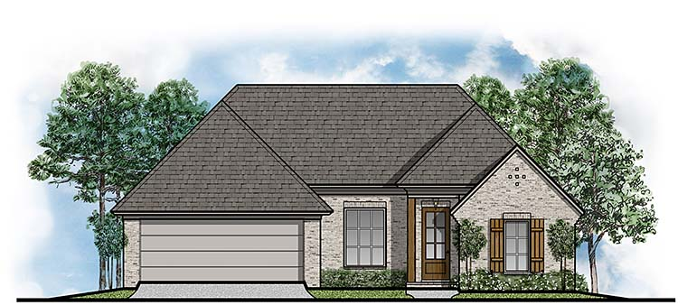 European Traditional House Plan 41509 Elevation