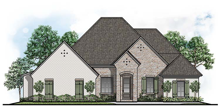 European House Plan 41510 Elevation
