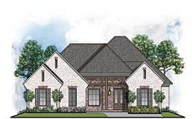 Country European Traditional House Plan 41511 Elevation