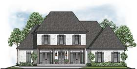 House Plan 41513 | Colonial European Southern Style Plan with 3872 Sq Ft, 5 Bedrooms, 5 Bathrooms, 3 Car Garage Elevation