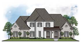 House Plan 41514 | Colonial European Southern Style Plan with 3277 Sq Ft, 4 Bedrooms, 4 Bathrooms, 3 Car Garage Elevation