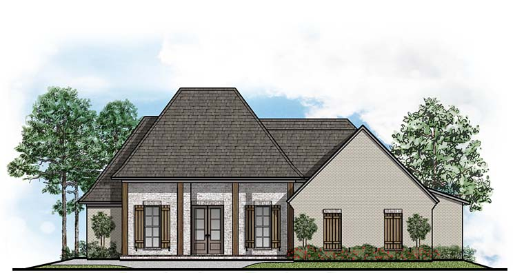 Colonial European Southern House Plan 41516 Elevation