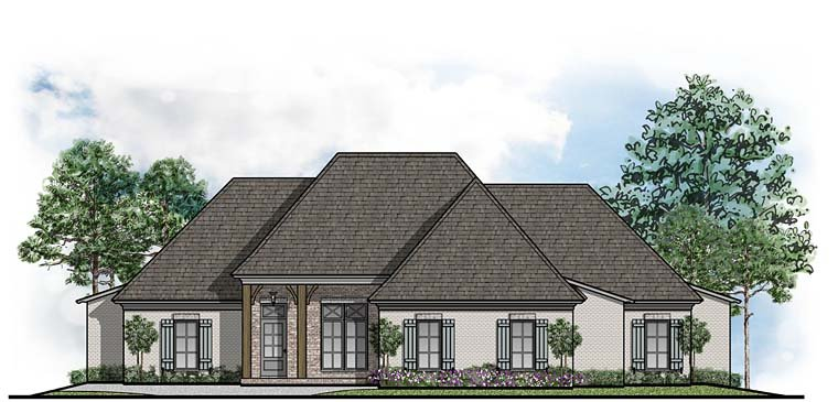 Colonial Country European Southern House Plan 41517 Elevation