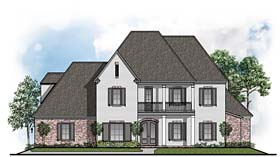 Colonial , European , Southern House Plan 41519 with 4 Beds, 5 Baths, 3 Car Garage Elevation